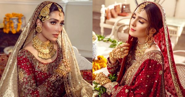 Ayeza Khan Beautiful Bridal Shoot for Annus Abrar Wedding Collection 2021