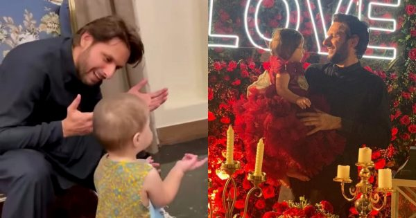 Adorable Video of Shahid Afridi with her Cute Daughter