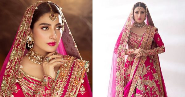 Ayeza Khan is Looking Gorgeous in Recent Pink Bridal Photoshoot
