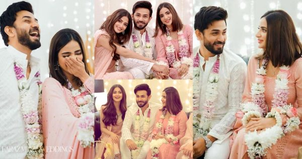 Saboor Aly and Ali Ansari Beautiful Engagement Pictures