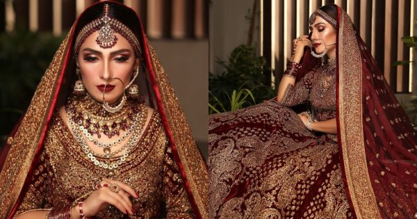 Actress Ayeza Khan Looks Stunning in her Latest Bridal Shoot