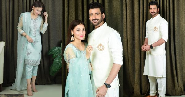 Hina ALtaf and Agha Ali Beautiful Eid-ul-Fitr 2021 Pictures