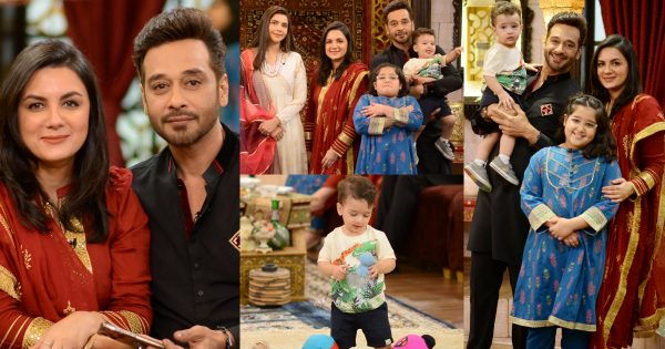 Faysal Qureshi with his Wife Sana and Kids at Shan-e-Suhoor