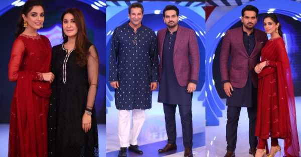 Maya Ali and Waseem Akram Beautiful Pictures from Jeeto Pakistan League