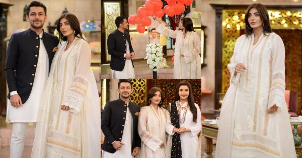 Mariam Ansari With Her Husband Owais Khan At Shan-e-Suhoor – Pictures