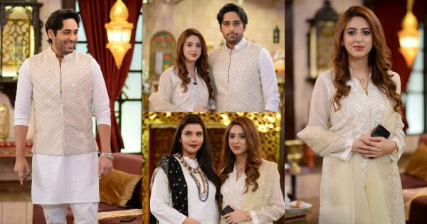 Salman Saeed With His Wife Aleena at Shan-e-Suhoor – Pictures