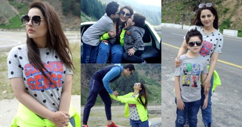 Recent Pictures of Fatima Effendi With Family From Northern Areas