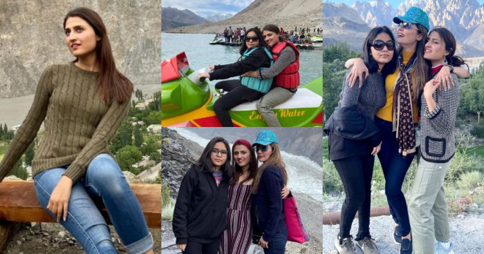 Natasha Hussain Lovely Pictures With Daughters From Hunza