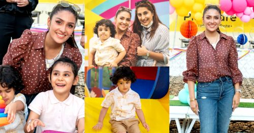Beautiful Latest Pictures of Ayeza Khan With Her Kids