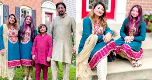 Eid Beautiful Pictures of Javeria and Saud with Family