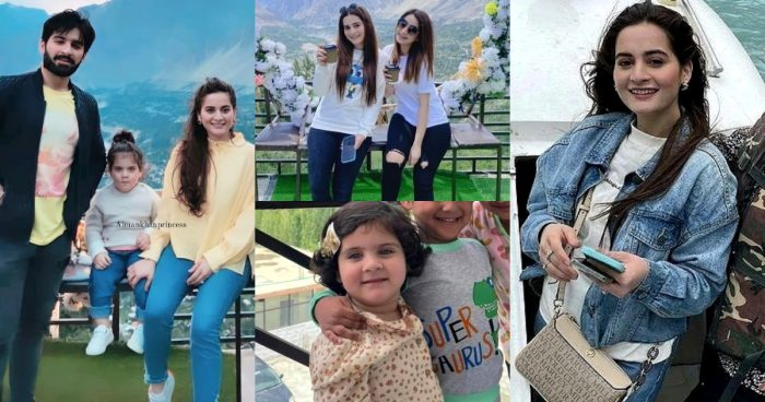 Latest Pictures of Aiman Khan with her Family from Hunza Trip