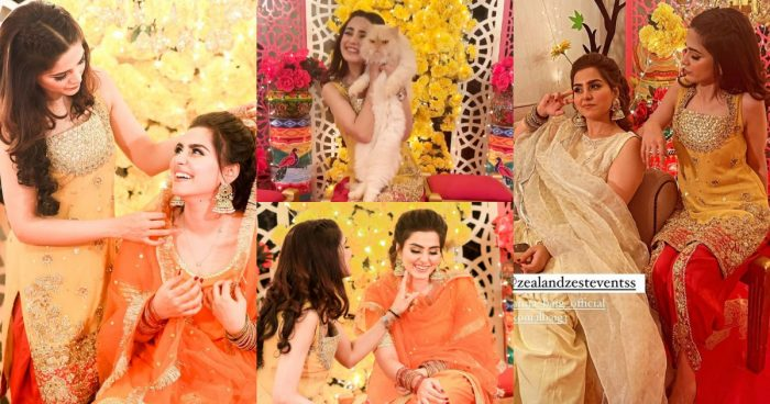 Singer Aima Baig's Sister Komal Baig's Mayoun Pictures And Videos