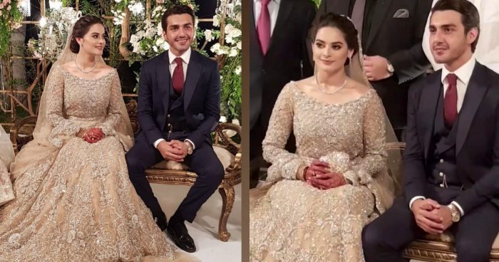 Minal Khan and Ahsan Mohsin Walima Pictures
