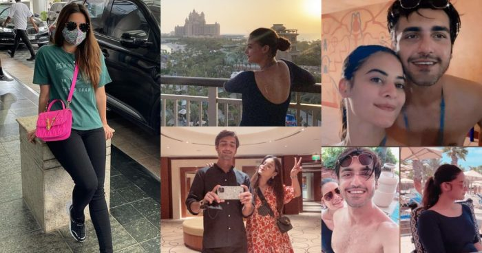 Minal Khan and Ahsan Mohsin Pictures from Dubai