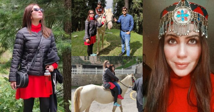Sadia Faisal Enjoying her Vacations with her Family in Nathia Gali