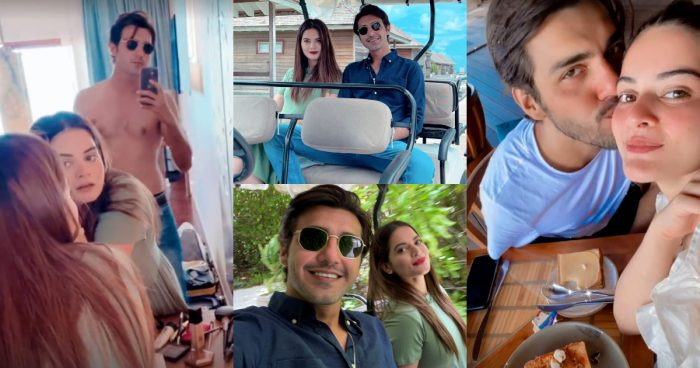 Minal Khan and Ahsan Mohsin in Maldives – Day 4 Pictures