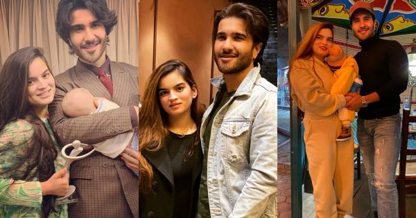 Latest Beautiful Clicks of Feroze Khan's with his Wife and Son