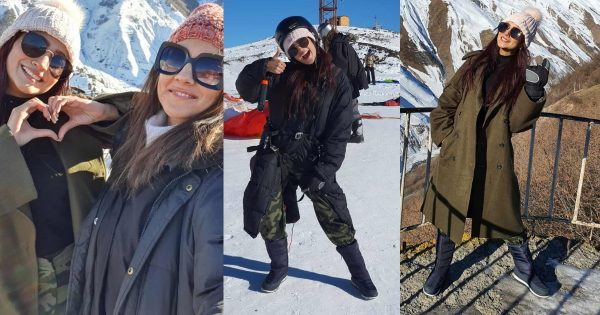 Beautiful Pictures of Zarnish Khan from Her Winter Vacations with Friend in Georgia