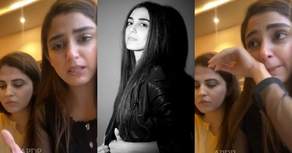 Maya Ali Crying in Her Live Video Call with Fans