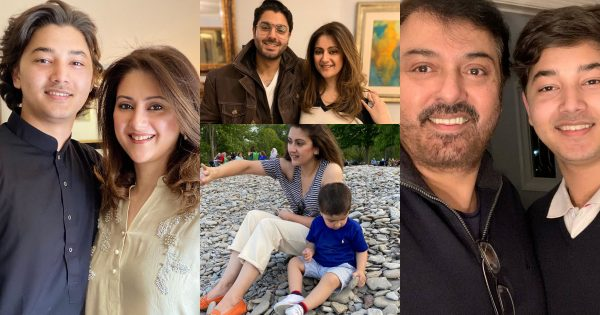Latest Pictures of Noman Ijaz with Wife and Sons