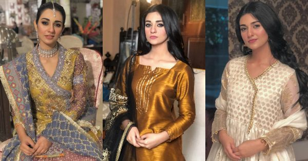 Beautiful Pictures of Sarah Khan Wearing Traditional Dresses