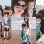 Beautiful Family Clicks of Fatima and Arsalan from Beach