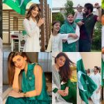 Showbiz Celebrities Pictures from Pakistan Independence Day