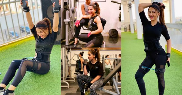 Latest Pictures of Actress Ushna Shah in the GYM
