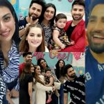 Beautiful Clicks of Newly Wed Couple Sarah Khan and Falak Shabir at Amal Muneeb Birthday