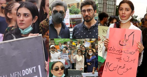 Famous Celebrities of Pakistan Attend The Protest For Motorway Case at Karachi Press Club
