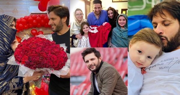 Cricketer Shahid Afridi with Family – Beautiful Pictures