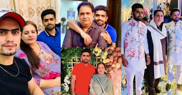 Cricketer Babar Azam With His Family