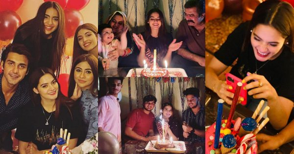 New Pictures of Minal Khan Birthday Party with Family and Friends