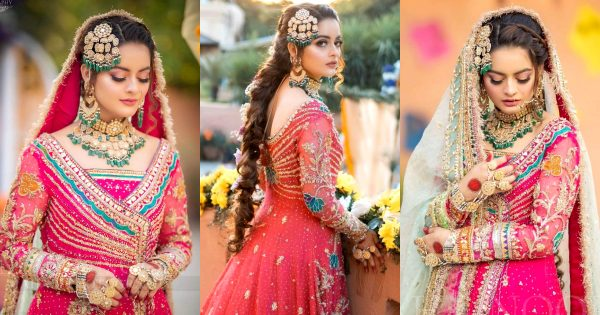 Minal Khan is Looking Stunning in Her Bridal Makeup Shoot for LA Fiore Salon & Spa
