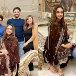 Nadia Khan with Husband at Javeria Saud Home for Dinner