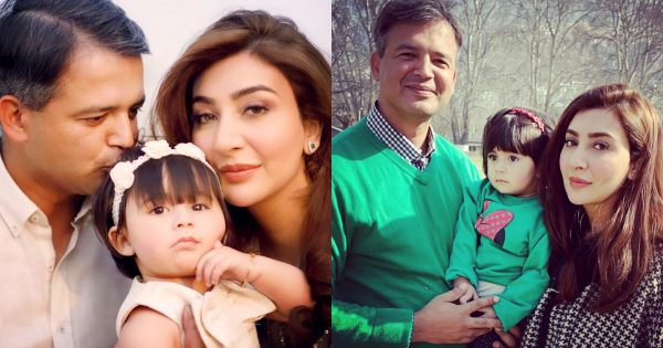 Beautiful Pictures of Actress Aisha Khan with her Husband and Daughter