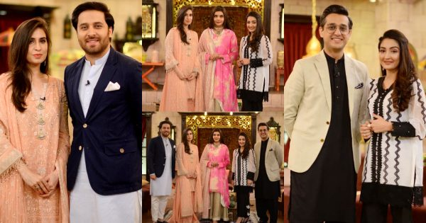 Shafaat Ali and Haroon Shahid with Their Wives in Shan e Suhoor