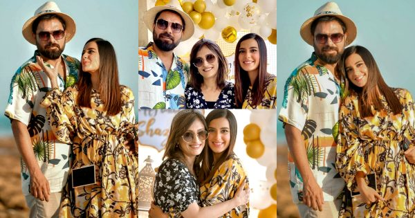 Couple Pictures of Iqra Aziz And Yasir Hussain At Beach