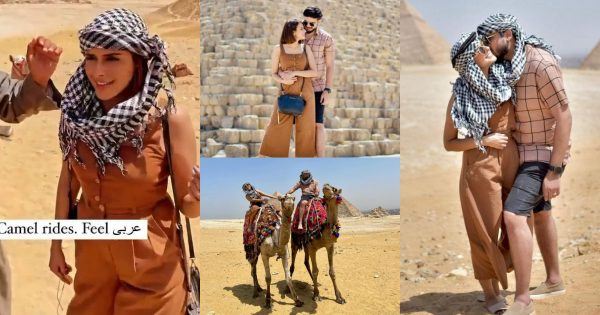 Model Waliya Najib Pictures with Husband from their Egypt Trip