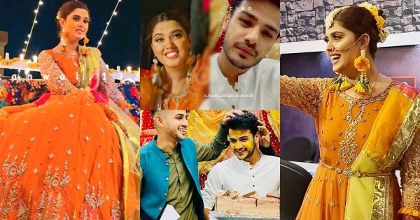 Tiktok Stars Kanwal Aftab and Zulqernain Sikander Dholki Pictures and Videos