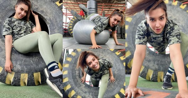 Maira Khan Clicks from her Workout in Gym