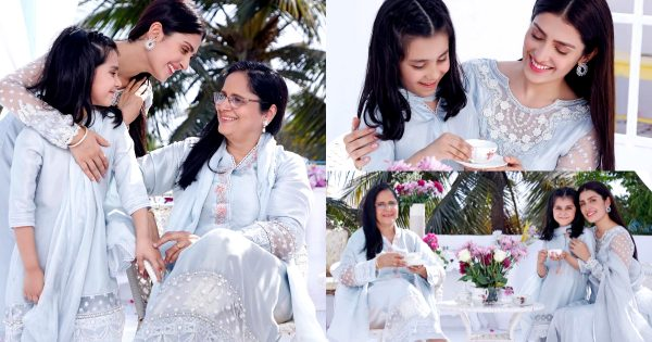 Ayeza Khan with her Daughter and Mother from Iftar Party – Beautiful Pictures