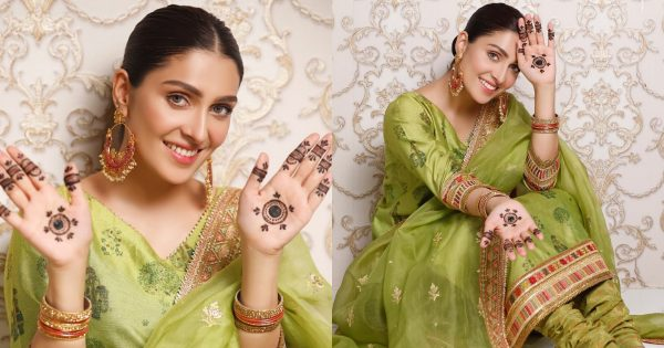 Beautiful Pictures of Ayeza Khan from Chand Raat