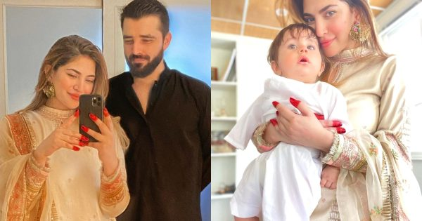 Hamza Ali Abbasi And Naimal Khawar Eid Pictures With Their Son