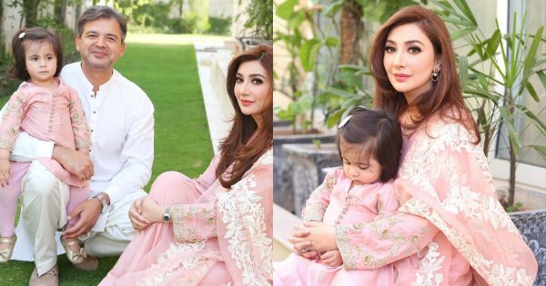 Beautiful Eid-Ul-Fitr Pictures of Aisha Khan with her Family