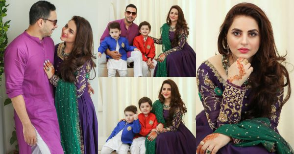 Fatima Effendi and Kanwar Arsalan Eid Day 1 Pictures with their Sons