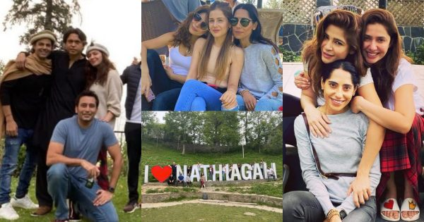 Actress Mahira Khan Spotted With Her Fiancé & Friends In Nathia Gali