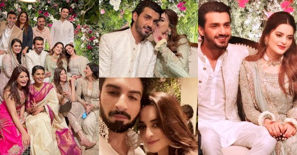 Minal Khan and Ahsan Mohsin Ikram Official Engagement Pictures
