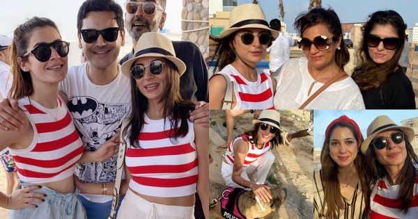 Sarwat Gillani Having Fun with Friends At Beach Party
