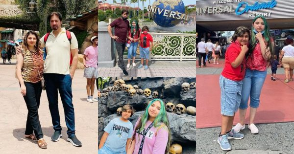 Javeria and Saud with Family Enjoying Vacations At Universal's Islands of Adventure USA
